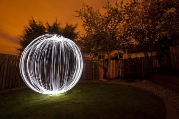 light painted orb