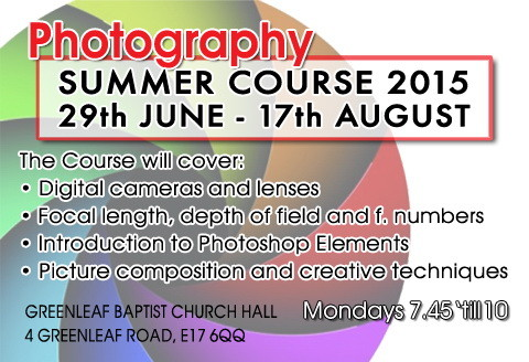 Photography Course 2015