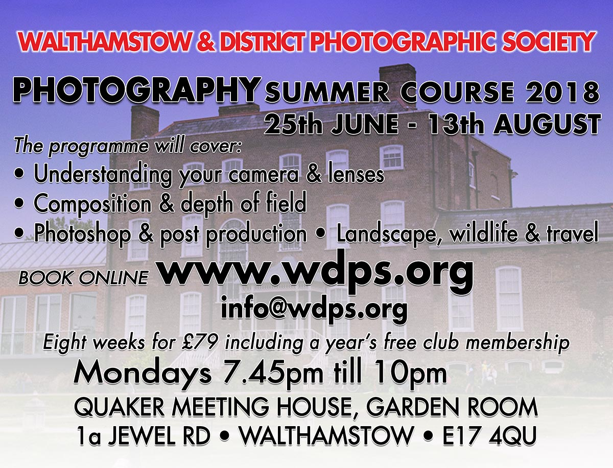 Summer Photography Course – 2018
